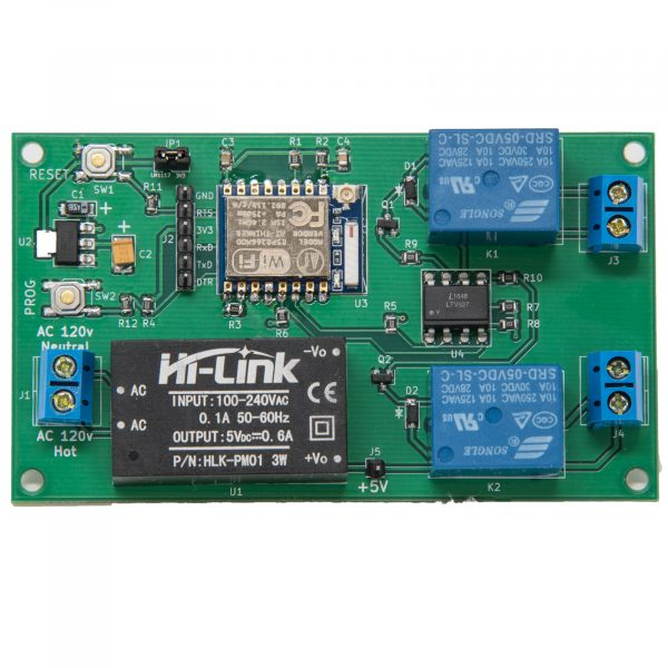 Web Controlled Dual Relay